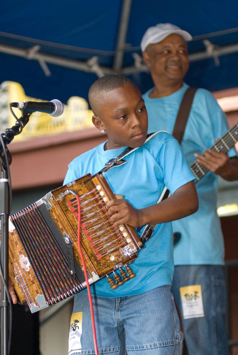 2008 Louisiana Cajun Zydeco Festival, Music, New Orleans, Guyland Leday Family & Friends