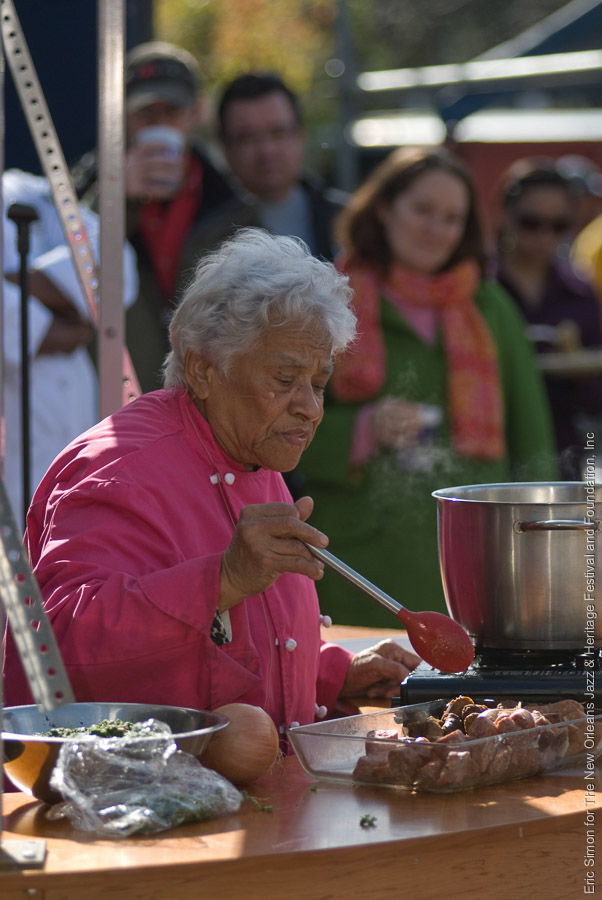 2008 Treme Creole Gumbo Festival, Cooking, Leah Chase, New Orleans