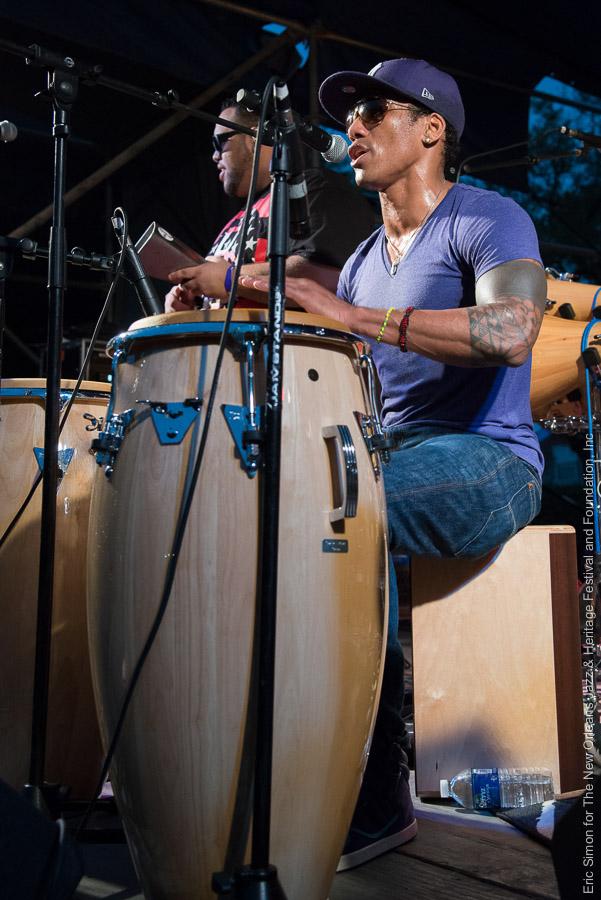 2013 Congo Square Rhythms Festival, Music, New Orleans, Pedrito Martinez Group
