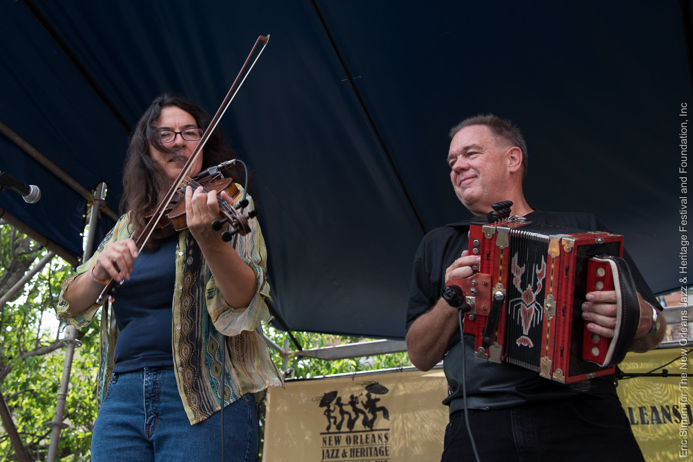 2013 Louisiana Cajun Zydeco Festival, Bruce Daigrepont and Gina Forsythe, Music, New Orleans