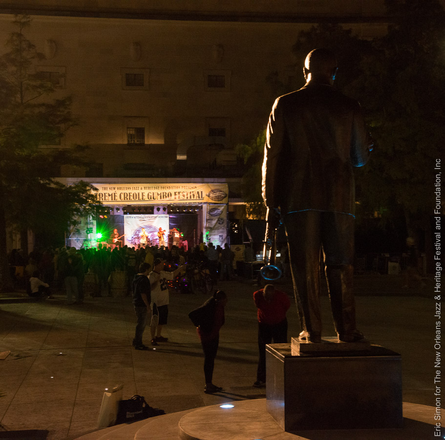 2013 Treme Creole Gumbo Fest, Louis Armstrong Statue