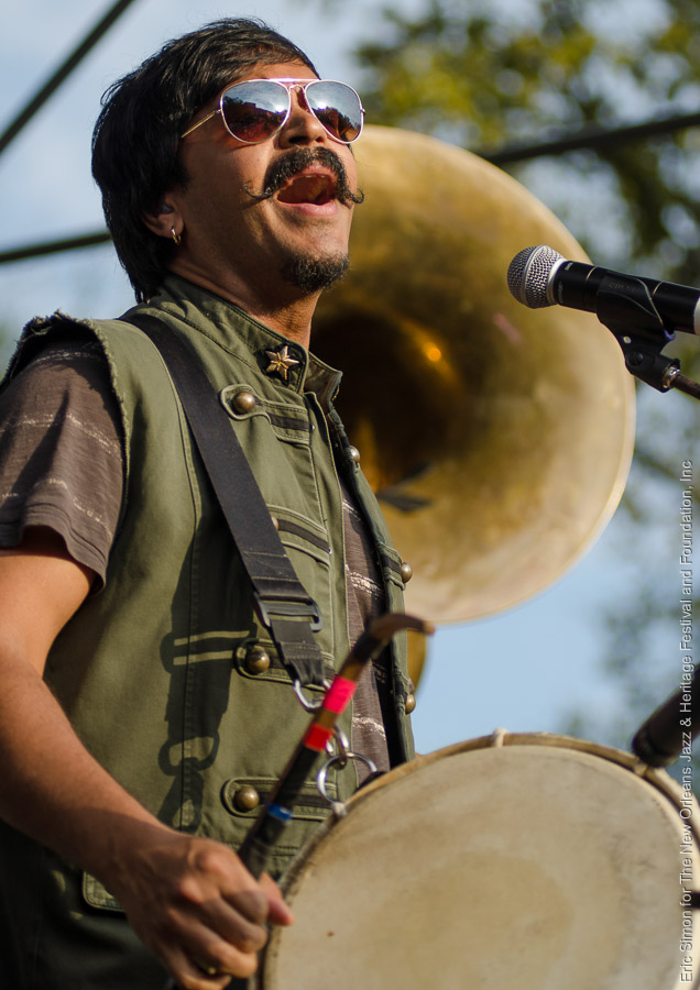 2014 Congo Square Rhythms Festival, Music, New Orleans, Red Baraat