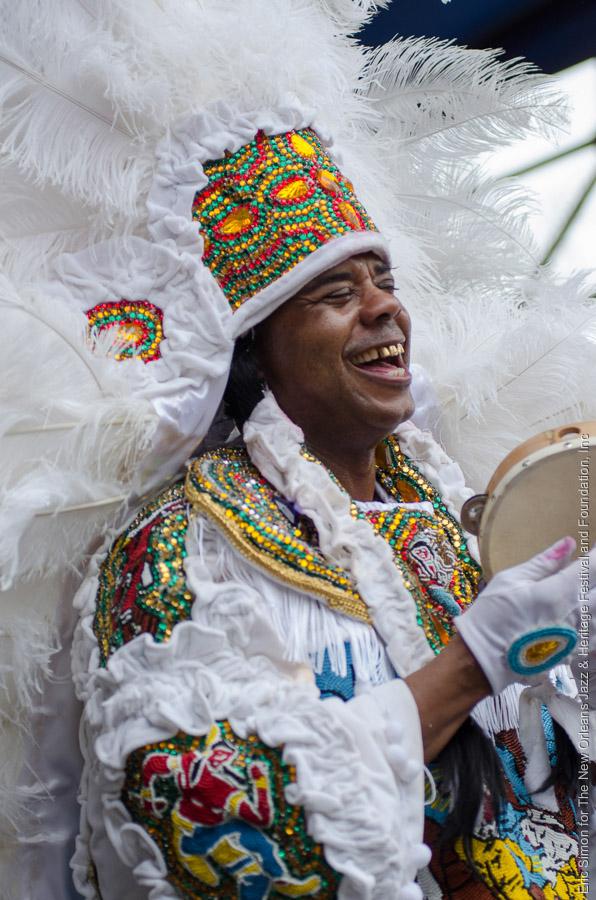 "2014 Congo Square Rhythms Festival, Music, New Orleans, Spy Boy Irving ""Honey"" Banister"