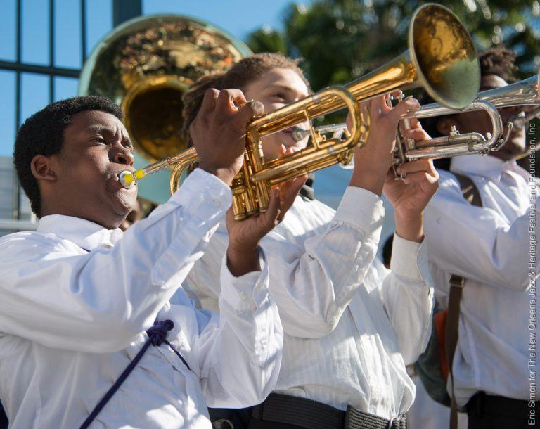 2014 Treme Creole Gumbo Festival, Class Got Brass Winner: Edna Karr High School Brass Band