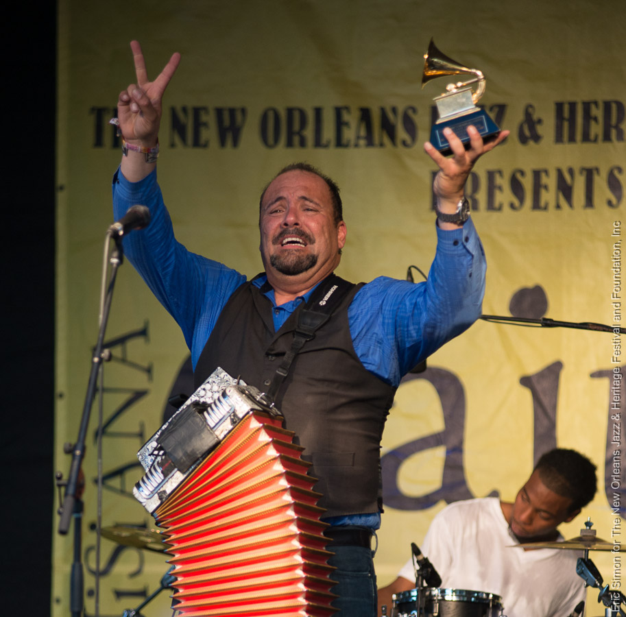 2015 Louisiana Cajun Zydeco Festival, Music, New Orleans, Terrance Simien with his Grammy