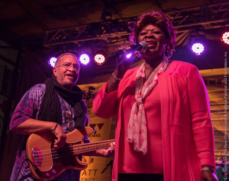 2015 Crescent City Blues and BBQ Festival, Irma Thomas and George Porter, Jr., Music, New Orleans