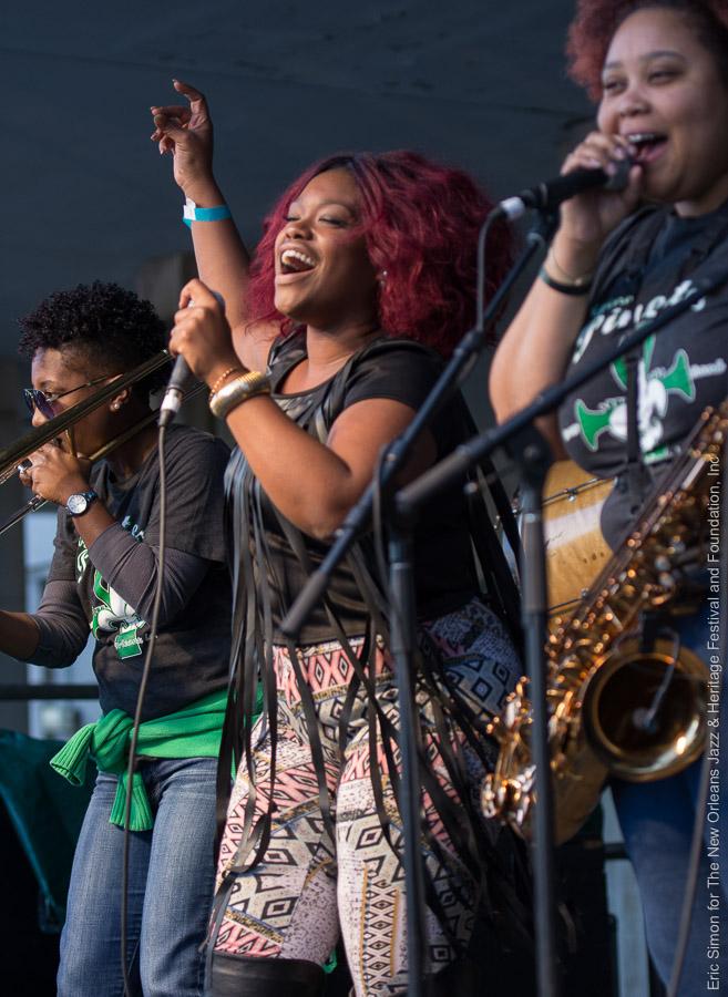 "2015 Treme Creole Gumbo Festival, Anjelika ""Jellly"" Joseph, Original Pinettes Brass Band"