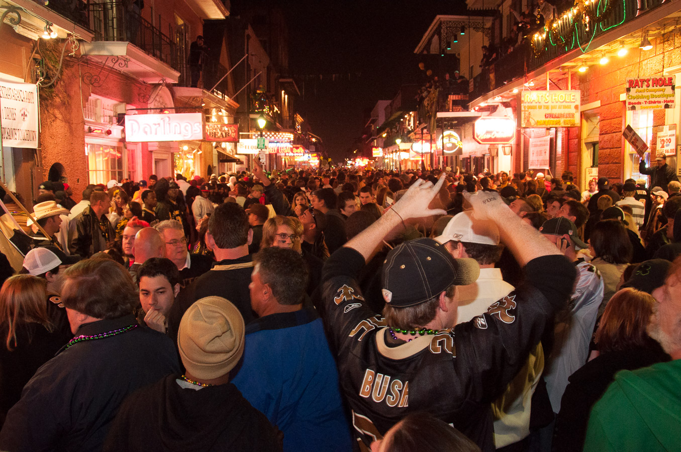 French Quarter, New Orleans, Saints Parade, Super Bowl