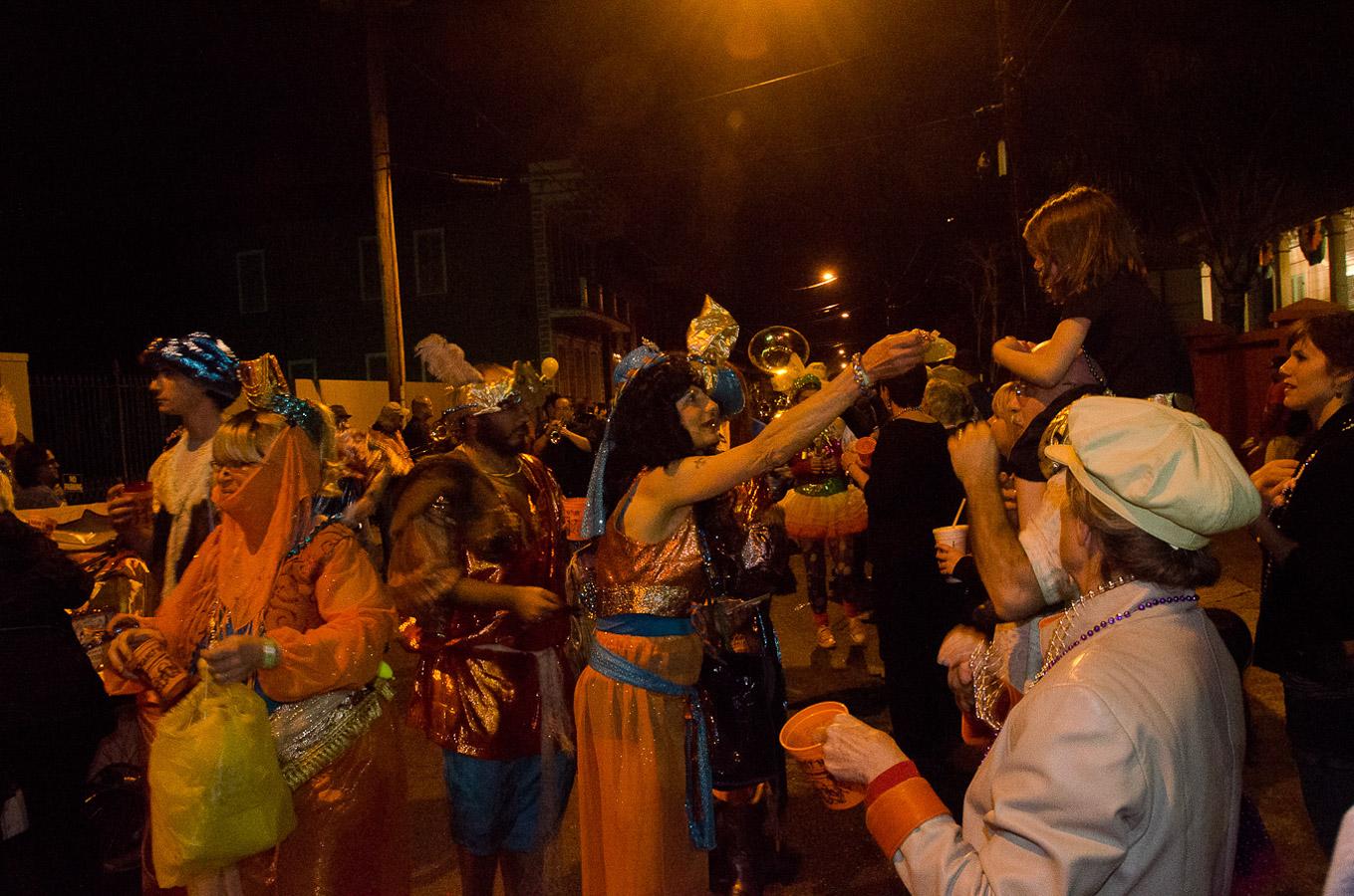 Krewe du Vieux Parade, Mardi Gras, New Orleans, Pam, 2012