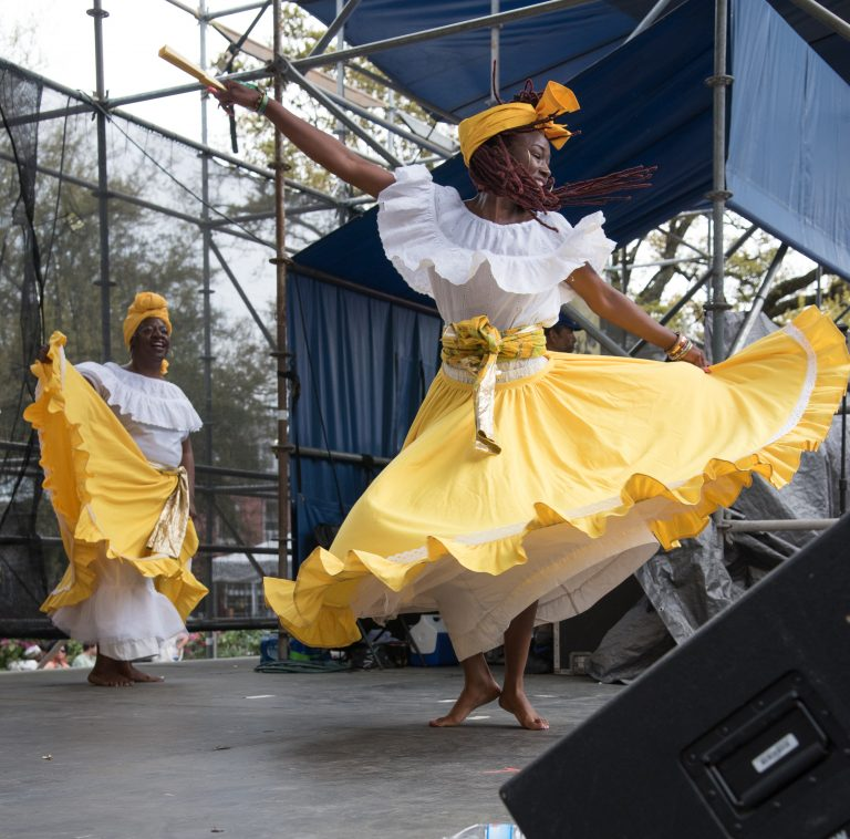 2015 Congo Square Rhythms Festival, New Orleans, music, Kumbuka African Dance Ensemble