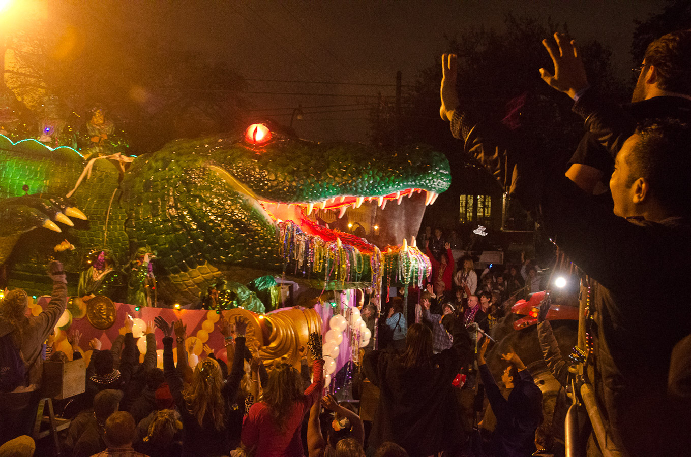 Bacchus Parade, New Orleans Mardi Gras, 2012