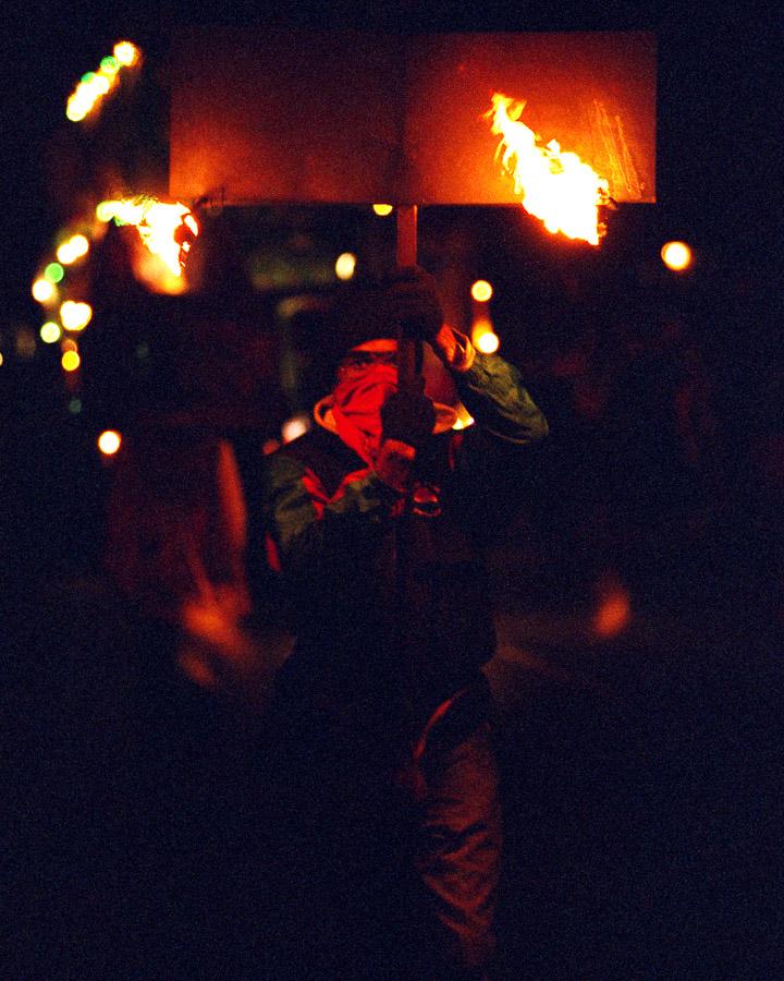 2005 Mardi Gras, Flambeaux, New Orleans
