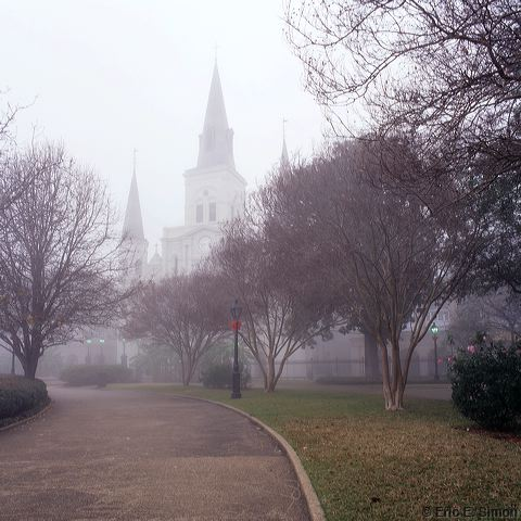 French Quarter, New Orleans, Jackson Square, Fog