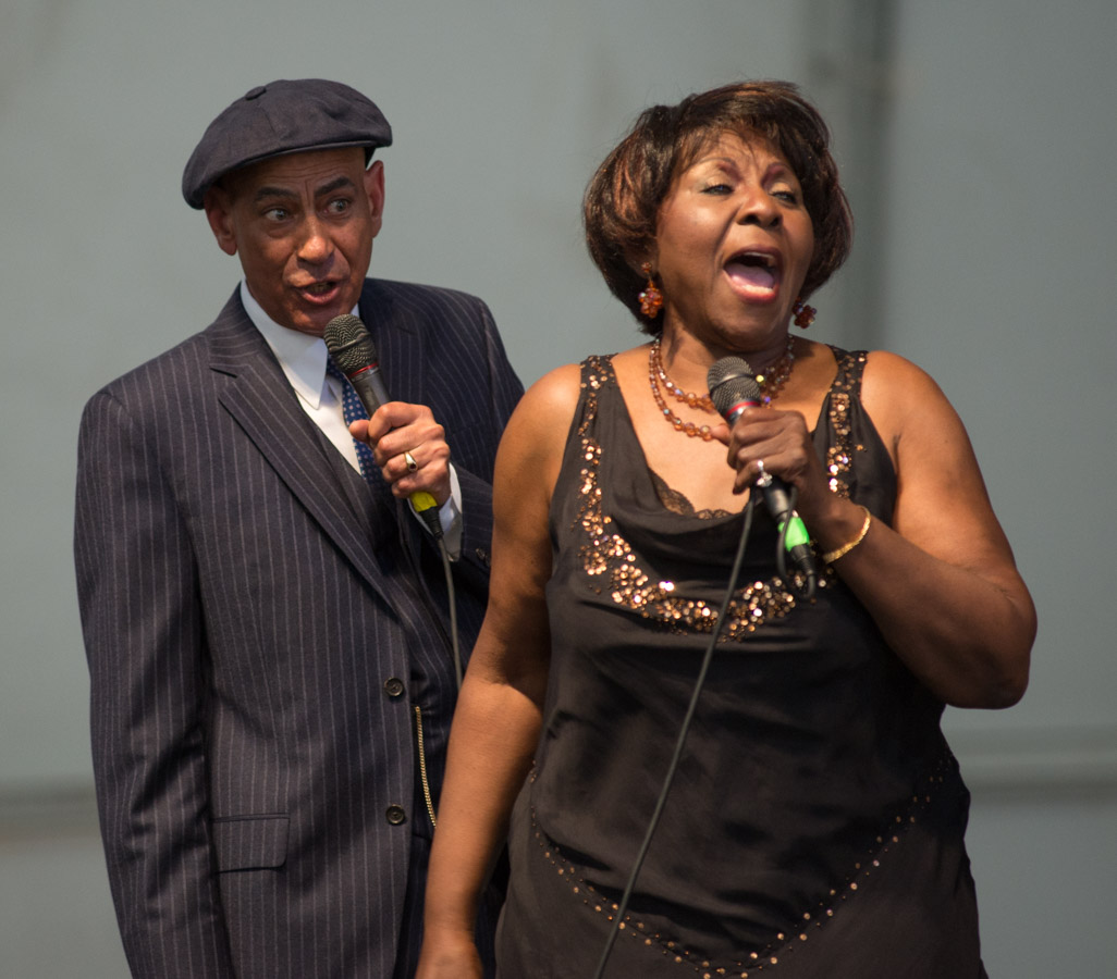 2013 New Orleans Jazz and Heritage Festival, Jazz Fest, Vernel Bagneris and Sandra Reaves-Phillips