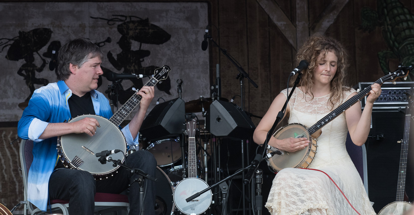 Béla Fleck and Abigail Washburn, Jazz Fest 2015, New Orleans Jazz and Heritage Festival